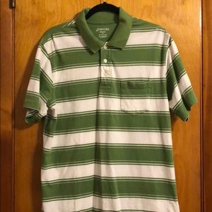 Striped Green Polo